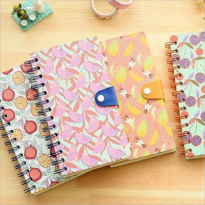 """""""Fruit Town"""" 1pc Journal Diary Cute Coil Spiral Sketchbook Blank Paper Notebook"""
