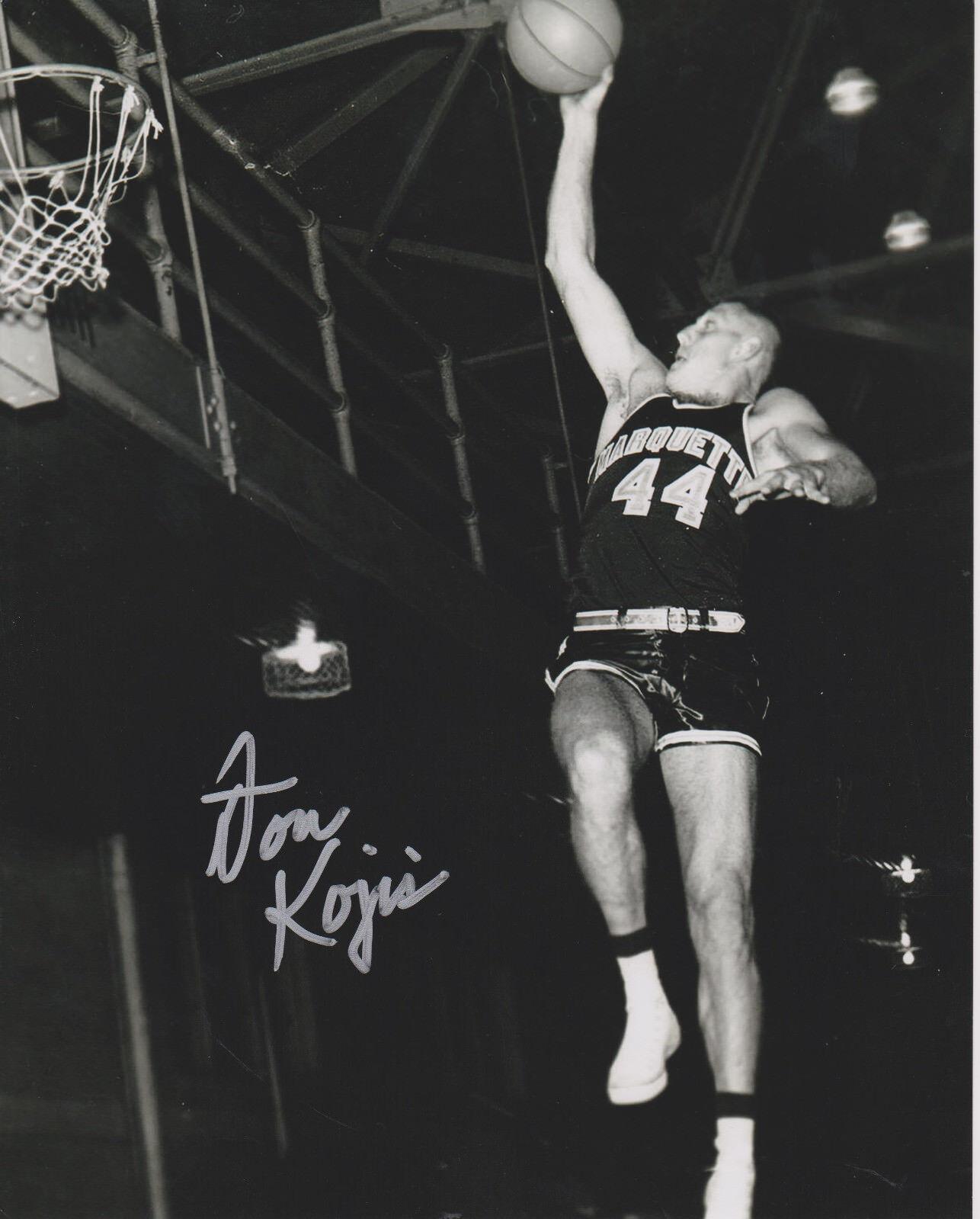 Don Kojis  Marquette Warriors Baloncesto Firmado 8x10 Foto  echa un vistazo a los más baratos