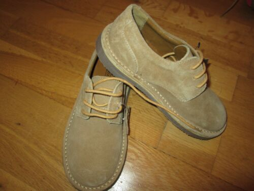 next older boys beige suede lace up shoes size 5 eur 38 brand new with tags