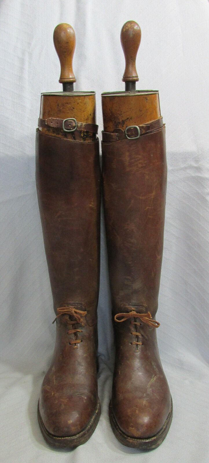 Vintage Maxwell  Brown Leather Equestrian Polo Riding Mens Boots&Trees London  online shopping