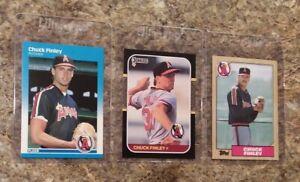 3-Chuck-Finley-Rookie-Card-lot-1987-Fleer-Donruss-Topps-RC-Angels-5X-Allstar