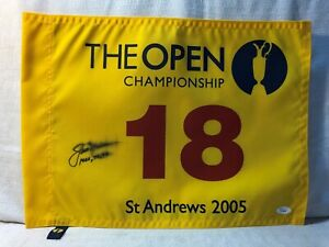 Jack-Nicklaus-Signed-2005-Open-Championship-Flag-Adding-1966-70-78-British-Open