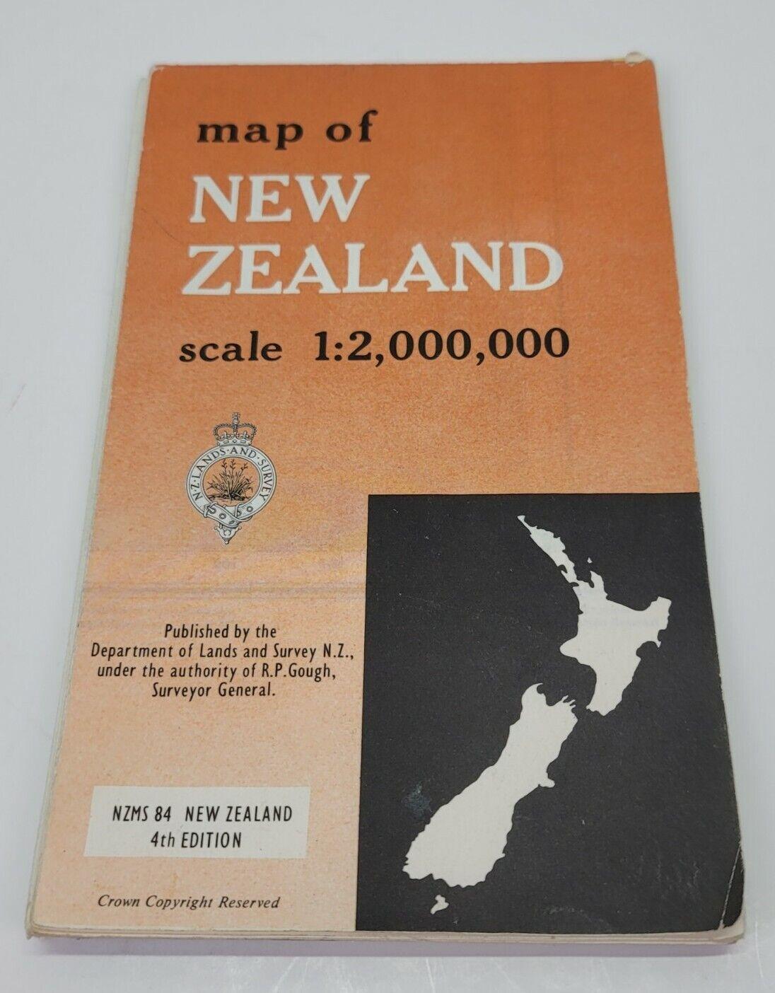 NZMS New Zealand 1:2 000 000 Folding Map Department Of Lands & Survey Rare 1966