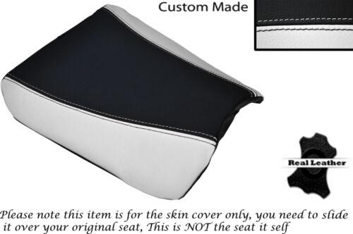BLACK /& WHITE CUSTOM FITS SUZUKI RGV 250 SP VJ22 FRONT LEATHER SEAT COVER