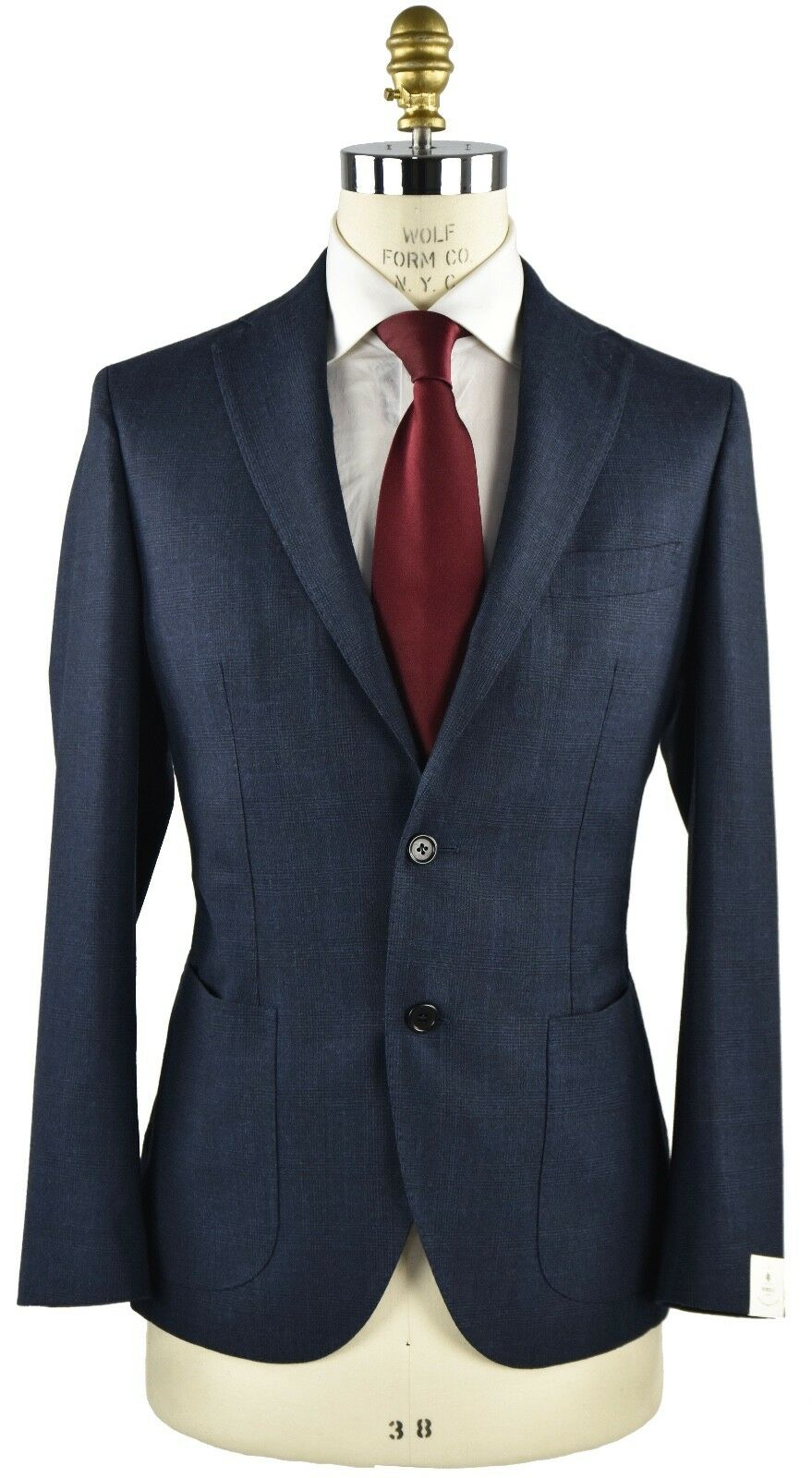 NEW 2018 LUIGI BORRELLI NAPOLI SUIT WOOL AND CASHMERE SZ 40 US 50 BL2