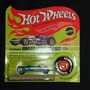 1969-Hot-Wheels-Lotus-Turbine-Spectraflame-Aqua-Blister-Pack-HK-Redline-HW1224