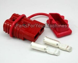 Quick Connect Disconnect Plug W Dust Cover 2 Gauge 175a For Warn Winches 22680 Ebay