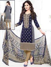 Elegant Crepe Designer Printed Unstitched Dress Material Suit D.No VAR1654