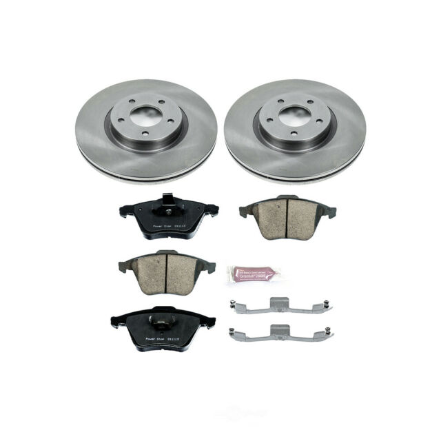 FRONT KIT Reliance *OE REPLACEMENT* Disc Brake Rotors *Plus Ceramic Pads F2377