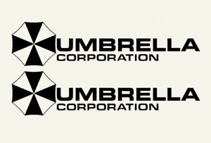 2X-Black-Umbrella-Corporation-Hive-Resident-Evil-Vinyl-Sticker-Car-Window-Decal