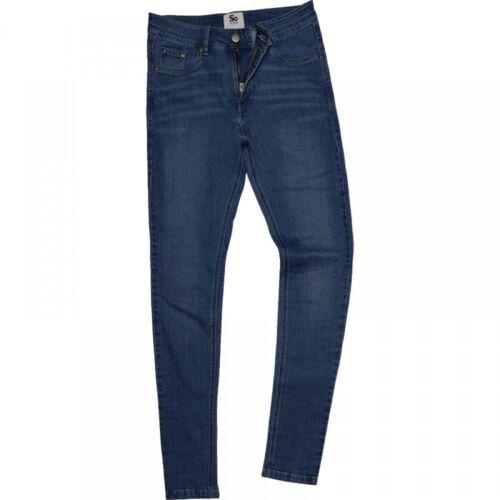 Herren Max Slim Fit Jeans Denim 4 Farben W28,30,32,34,36,38,40 Länge 31+33 SD004