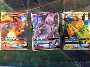 Pokemon Charizard GX 9/68 Pikachu GX  20/68 Mewtwo GX 31/68 | 3 Cards