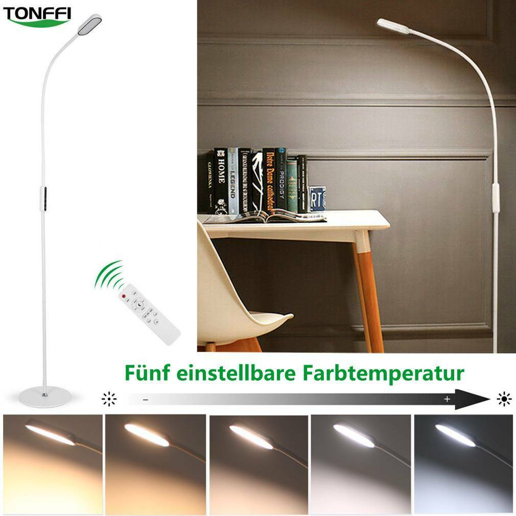 9W LED Stehleuchte Dimmbar Standleuchte Steh Lampe Touch Memory + Fernbedienung