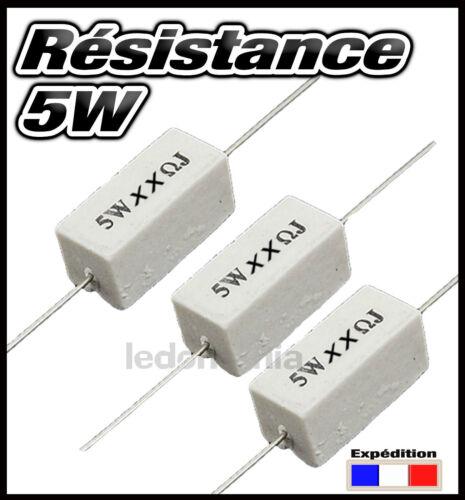 5W910R# résistance 5W 910 Ohms de 3 à 25pcs