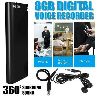 8GB Mini Spy Digital Audio Voice Recorder Diktiergerät Aufnahmegerät Rekord A296