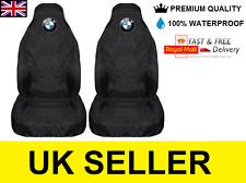 BMW ALPINA CAR SEAT COVERS PROTECTORS X2 100% WATERPROOF / HEAVY DUTY / BLACK
