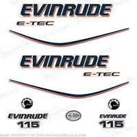 Evinrude 115hp E-tec Outboard Decal Kit - 2010 Engine Stickers