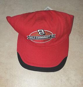 CHEVY-8-DALE-EARNHARDT-JR-RED-NASCAR-HAT