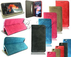 f r apple iphone 5se 6s 7 echtes wildleder handy tasche. Black Bedroom Furniture Sets. Home Design Ideas