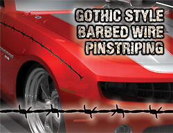extended Barbed Wire Pinstriping Dodge,Chevy SILVER color Ford