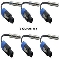 Pyle 12ga Compatible Speakon Connector Male To 1/4female Cable Adapter Lot Of 6 on sale