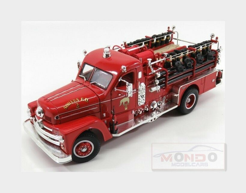 Seagrave Model 750 Truck Fire Engine 1958 Red LUCKY DIECAST 1:24 LDC20168R | Belle Et Charmante