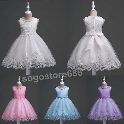 Flower Girls Kids Wedding Formal Junior Bridesmaid Party Pageant Princess Dress