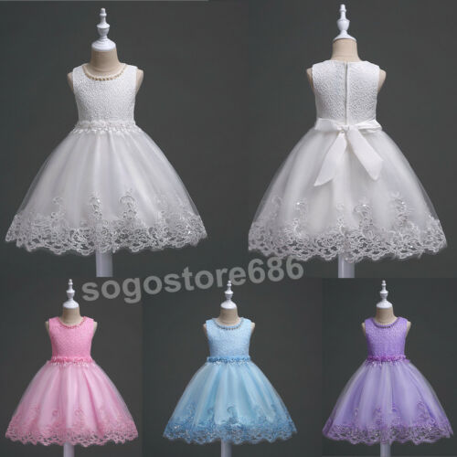 Flower Girl Wedding Formal Junior Bridesmaid Party Pageant Princess  Gown Dress
