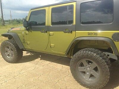 Door Skins Decal Matte Black w/ install kit Fits:2 door Jeep Wrangler JK 07-18