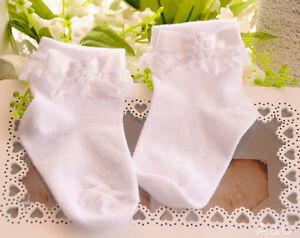 Baby Socken Söckchen Spitze Rüschen Weiß Taufe 50 56 62 68 74 80 86 92 Strümpfe