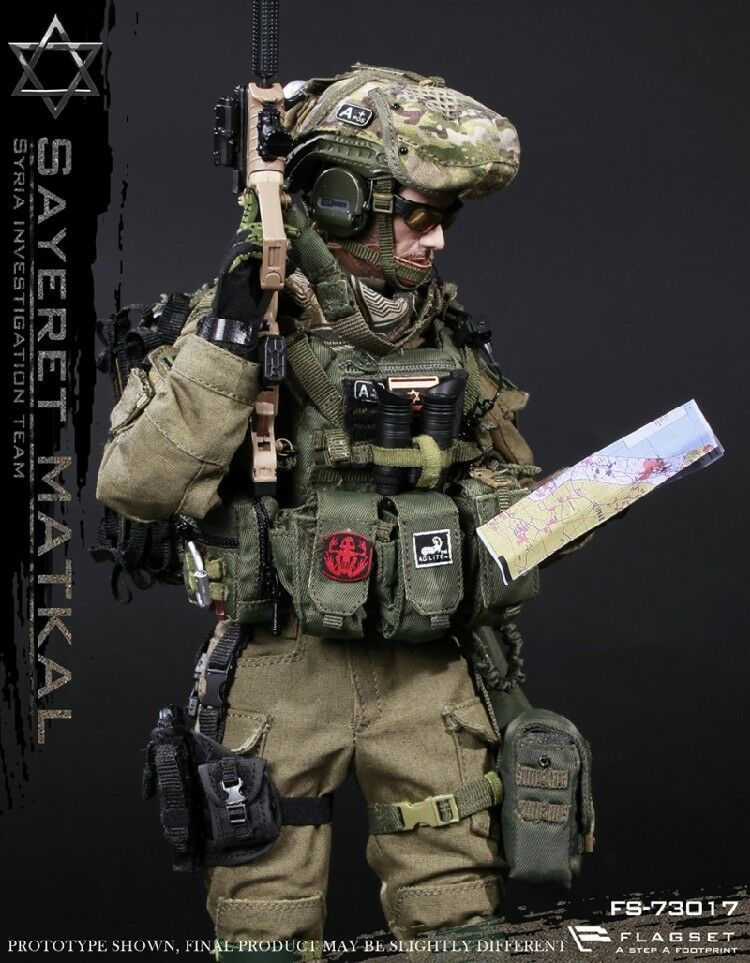 FLAGSET 1 6th Israel Wild Boy Special Forces Syrian Action Figure Collection Mod