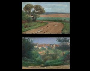 Nice-pair-of-paint-debut-xx-moselle-landscapes-of-a-painter-of-nancy