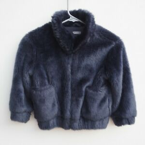 Gorgeous-NEXT-Girl-039-s-Navy-Blue-Faux-Fur-Bomber-Style-Jacket-age-5-years-STUNNING