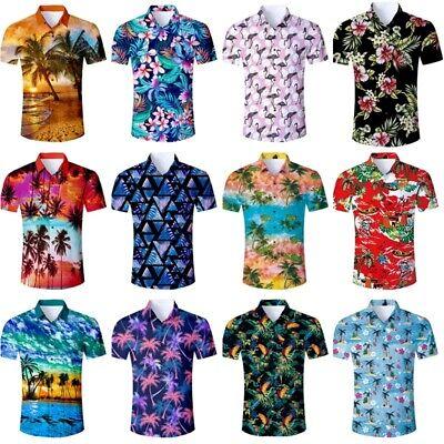 MENS HAWAIIAN SHIRT STAG BEACH HAWAII ALOHA PARTY SUMMER STAG DO HOLIDAY S 3X
