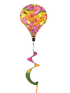 """Yellow Striped Deluxe Hot Air Balloon Wind Twister Everyday 54/""""L Briarwood Lane"""