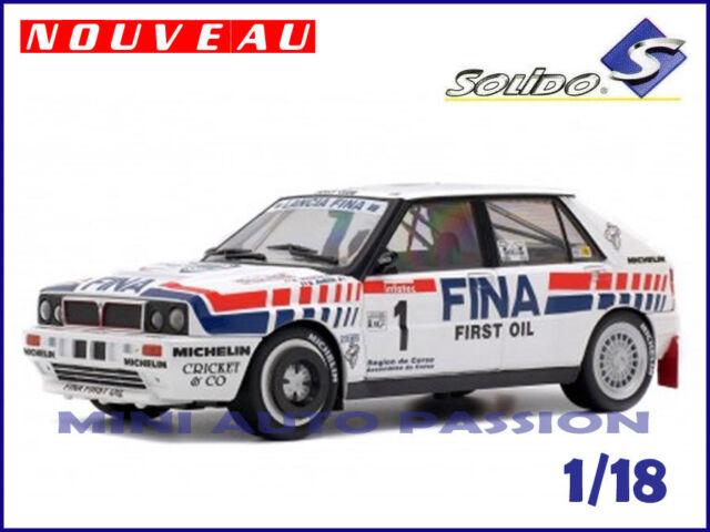 Lancia Delta Intégrale - Tour de Corse  1991  - Echelle 1/18 - SOLIDO  - 1800801