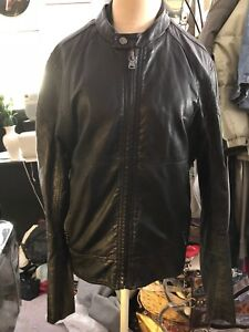 e912355bb Details about Express mens vegan leather motorcycle jacket size M