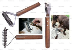 20 Blade Dog Pet Grooming Pro Groomer Stripper Tool With Wooden Handle Coat King