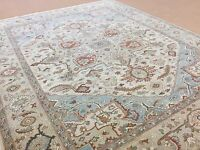 8'.2 X 10'.1 Beige Brown Serapi Traditional Persian Oriental Area Rug Handmade