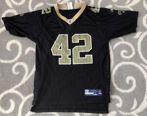 Details about Kids Darren Sharper #42 New Orleans Saints Reebok NFL Football Jersey Kids Large