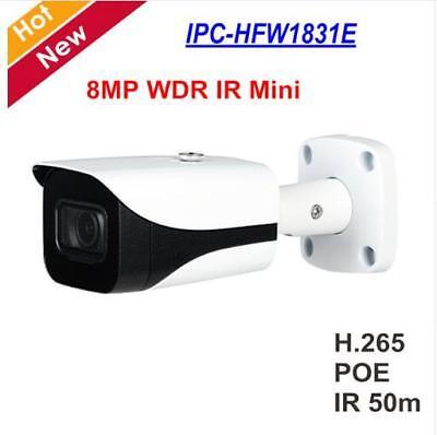 265 PoE WDR IR50m IP67 Mini Bullet Network Camera 2.8mm ONVIF OEM Dahua 8MP H