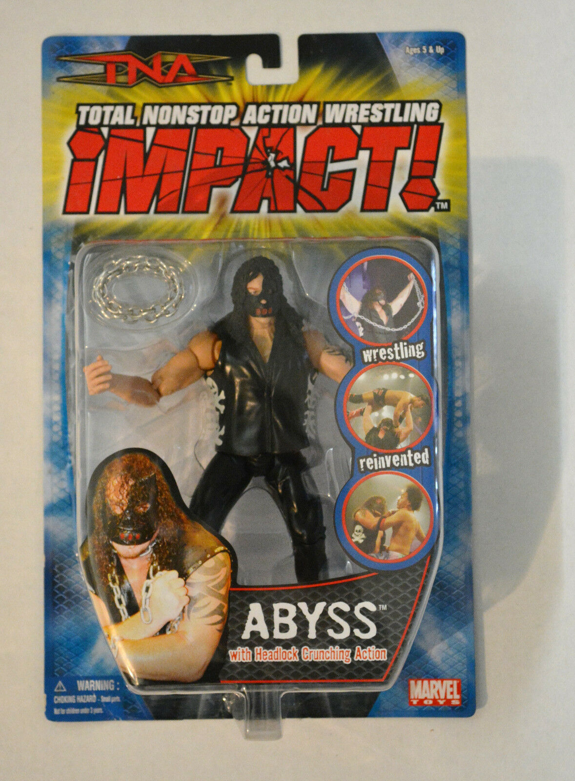 TNA Impact Wrestling Series 1 [2005] Abyss Figure Marvel Nuovo Rare OOP WWE