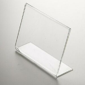 5 X 7 Clear Acrylic Perspex Photo Frame Landscape Free Standing