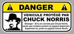 DANGER-VEHICULE-PROTEGE-PAR-CHUCK-NORRIS-FUN-DRIFT-JDM-12cm-STICKER-DA206