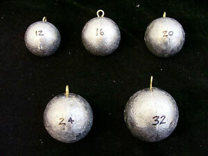 12oz Cannonball Round Fishing Lead Weights 7 Sinkers Free Shipping