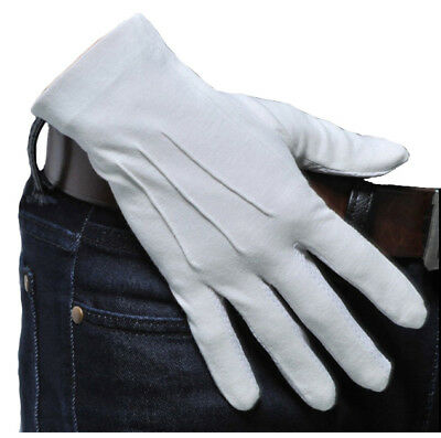 Ceremonial White  Dress Gloves Parade March Bands Masonic Services Cotton Gloves
