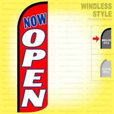Now Open Windless Swooper Flag 3x115 Ft Feather Banner Sign Rq90