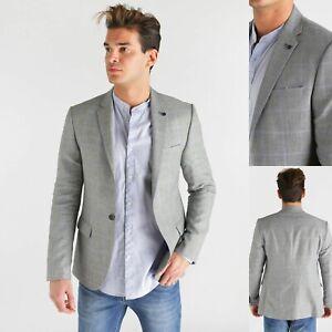 buy popular fb596 a73d4 giacca abito blazer in di lino slim fit da per uomo estivo ...