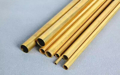 """2 x 3mm OD Brass Tube 12/"""" Long 0.5mm Wall Thick"""