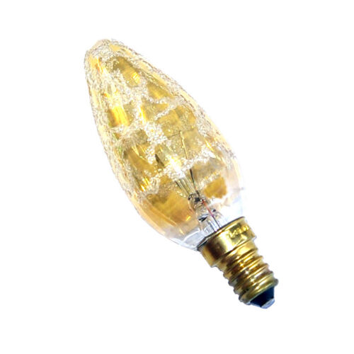 Philips Gold Kroko Glühbirne Kerze 25W E14 Glühlampe 25 Watt Glühbirnen Krokoeis